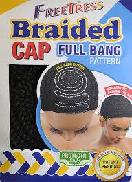 Comfort Personal Cleansing Shampoo Cap Freetress Braided Cap Full Bang Pattern