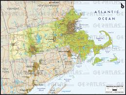 Map Of Massachusetts by Geoatlas Us States Massachusetts Map City Illustrator Fully