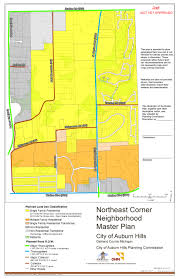 Oakland County Michigan Map by Northeast Corner Neighborhood Master Plan Developing Thoughts