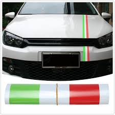 Italian Flag Tank Top 1 2m Italian Flag Style Stripes Stickers Auto Vehicle Hood Bumper