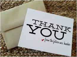 wedding shower thank you gifts thank you note ideas bridal showers weddings and wedding