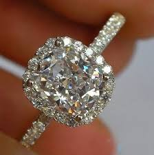 moissanite bridal reviews forever brilliant luxury cushion cut 2 carat halo engagement