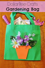 diy gardening tote bag dollar store spring craft for kids