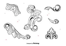vintage ornaments free vector stock
