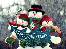 snowman merry decorations