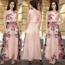 women u0027s chiffon one shoulder floral print tie waist backless
