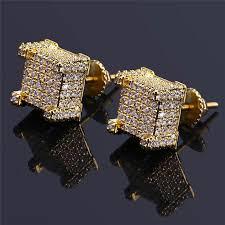 back earrings for men 2018 fashion back cz earrings stud men brand design luxury