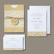 brides wedding invitation kits wedding department brides rustic chic invitation