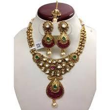 new gold set gold polki necklace sets at rs 3275 set s lajpat nagar 3 new