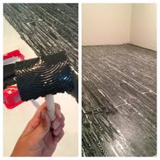 faux wood painted floors primer floors them use a roller