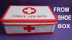 make easy first aid box from shoe box first aid kit for kids