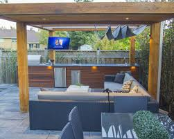 Outdoor Kitchen Construction Pool Construction With Outdoor Kitchen And Interlocking Toronto
