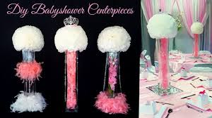 Centerpieces For Baby Showers by Diy Glam Baby Shower Centerpieces Youtube