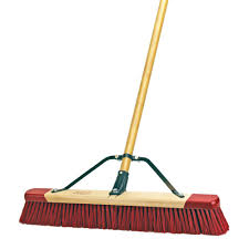 Patio Broom by Harper 24 In Easy To Assemble Outdoor Push Broom 7324p1 The