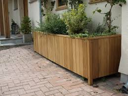 hand made wooden planters custom oak planters from bespoak designs