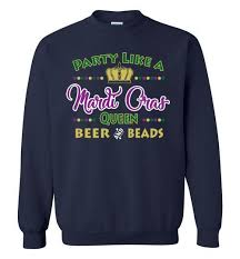 mardi gras apparel party like a mardi gras gildan crewneck unisex sweatshirt