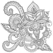 coloring pages henna art coloring pages for adults henna mehndi doodles abstract floral