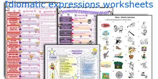 english teaching worksheets idiomatic expressions