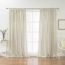 White Tie Curtains Tie Top Curtains White Wayfair