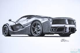 stanced cars drawing drawn ferarri laferrari pencil and in color drawn ferarri laferrari