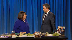 late night u0027 ina garten makes cheese plate for meyers nbc new york