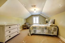 Single Bedroom Simple Bedroom Interior With Vaulted Ceiling Single Bed With