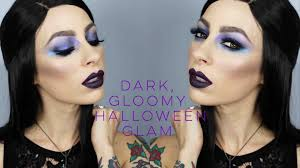 dark gloomy ethereal halloween look makeup geek duo chrome