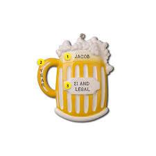 21st birthday beer mug ornament callisters christmas