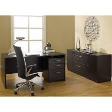 office desk with credenza 100 series 3 pc office set with mobile pedestal and credenza in