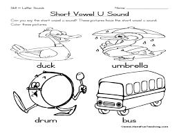 Printable Short Vowel Worksheets Short Vowel U Sound Pre K Kindergarten Worksheet Lesson Planet