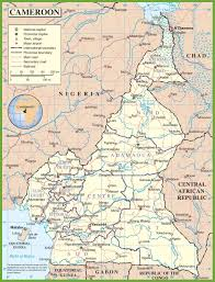 map of cameroon cameroon road map