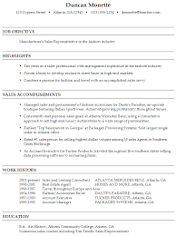 Salesperson Resume Example by Resume For A Sales Representative In Fashion Susan Ireland Resumes