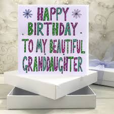 Book Birthday Card Personalised Granddaughter Birthday Book Card By Claire Sowden