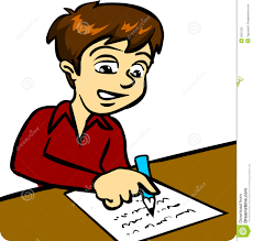 Student At Desk by Child Working At Desk Clipart 37