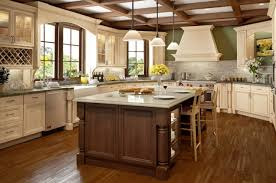 White Kitchen Cabinets With Glaze by Antique White Kitchen Cabinets With Chocolate Glaze Kitchen