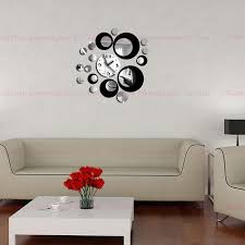 home decor wall clocks double color new 3d home decoration wall clock stickers decal diy