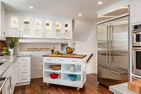 rolling kitchen island create feel kitchen become attractive