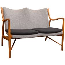 finn juhl nv45 settee by niels vodder for sale at 1stdibs