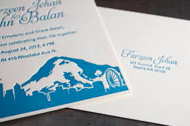expensive wedding invitations seattle skyline wedding invitations pike press