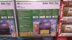 solar attic fan costco costco solar attic fan 299 youtube