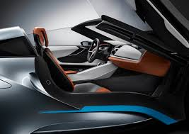 Bmw I8 Black And Blue - bmw i8 interior side view blue grey brown leather glossy black