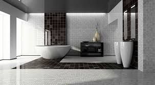 Bathroom White Porcelain Flooring Stainless by Bathroom White Brick Wall Concept Bathroom Circle Silver Framed