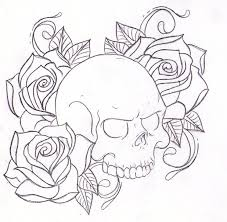 skull and roses coloring pages get coloring pages