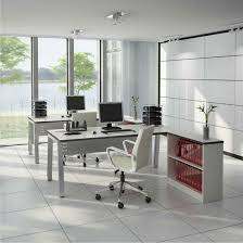 modern home office idea with chic and sweet look modern office