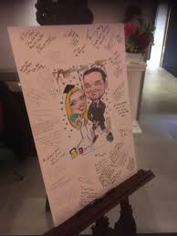 wedding signing board wedding ideas caricature signing boards by artist allan cavanagh