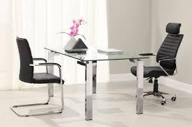 cool home office white shelves glass desk furniture penaime
