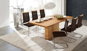 oiled oak dining table venjakob et355 extendable dining table