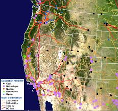 Grid Map Map Of United States Of America Electricity Grid United States
