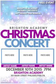 christmas concert program template customizable design templates for christmas concert postermywall