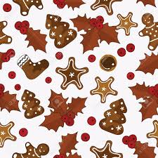 colorful christmas seamless pattern with holly berries and